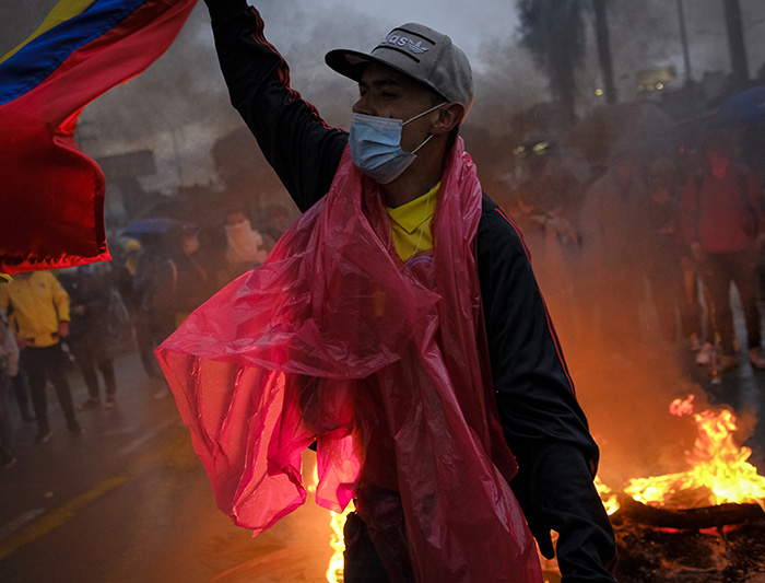 Violence Erupts in the Streets of Colombia